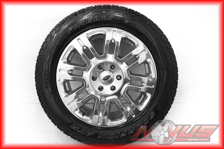 """20"""" Ford F150 Platinum Expedition FX4 Factory Wheels New Pirelli Tires 22"""