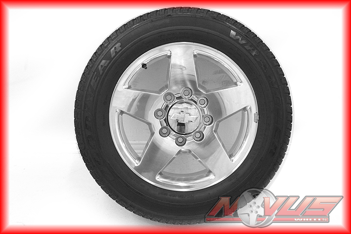 CHEVY SILVERADO GMC SIERRA DENALI 2500 HD POLISHED OEM WHEELS TIRES 18