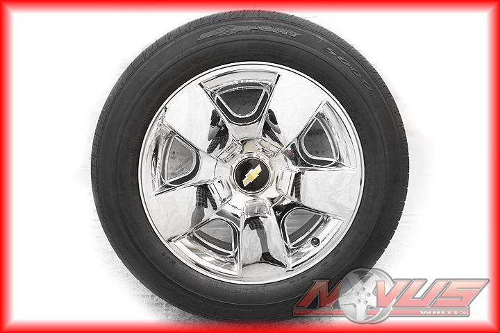 20 CHEVY SILVERADO TAHOE LTZ GMC YUKON SIERRA CHROME WHEELS TIRES OEM