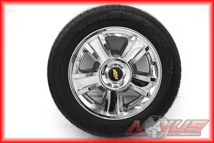 "20"" Chevy Tahoe LTZ Silverado GMC Yukon Chrome Wheels Goodyear Tires 22"