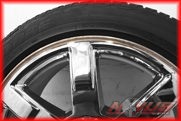 "22"" Cadillac Escalade Chrome Wheels Tires Chevy Tahoe 20 18"