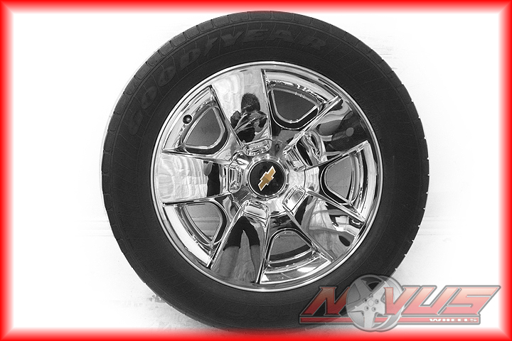 "20"" Chevy Silverado LTZ Tahoe Chrome Clad Wheels Goodyear Tires Yukon 22 18"