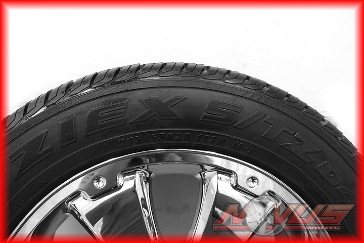 "20"" Toyota Tundra Sequoia Chrome Platinum Wheels Falken Tires Factory 22 18"