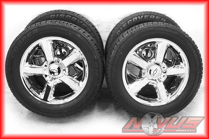 LTZ Silverado Chrome GMC Yukon Sierra Wheels Cooper Tires 22