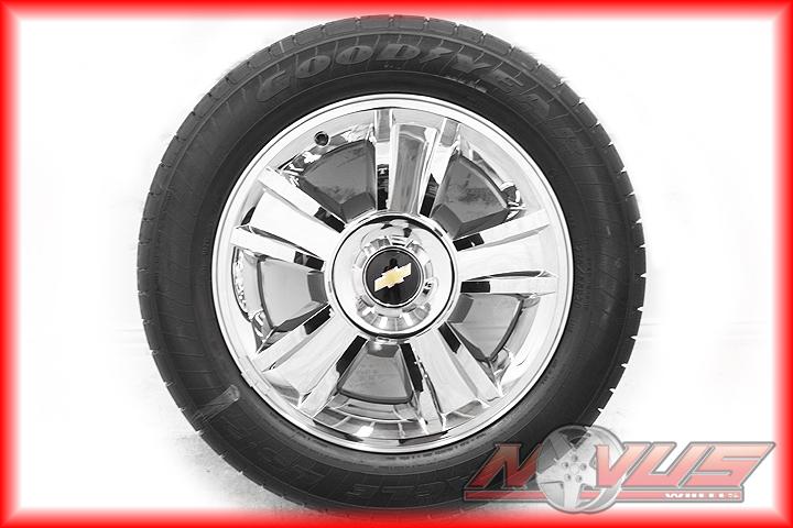 20 Chevy Tahoe LTZ Silverado GMC Yukon Chrome Wheels Goodyear Tires