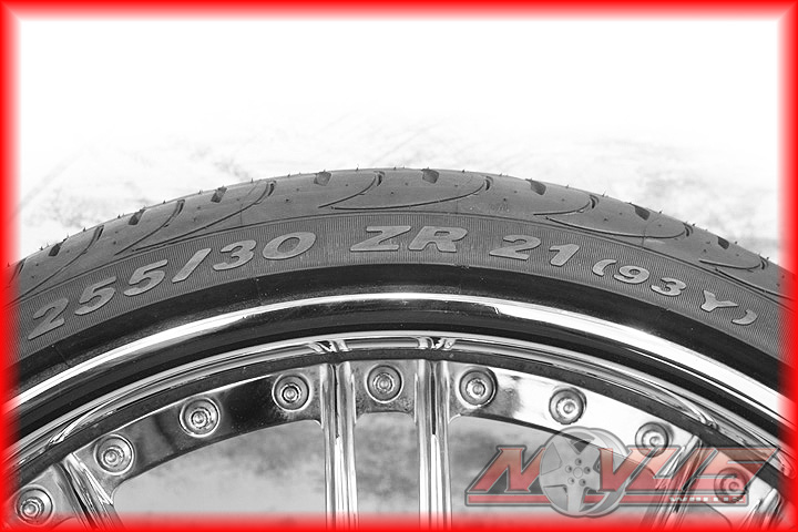 """21"""" Forged Chrome Wheels Pirelli Tires Staggered Ford Lexus 5x114 3 20 19 22"""