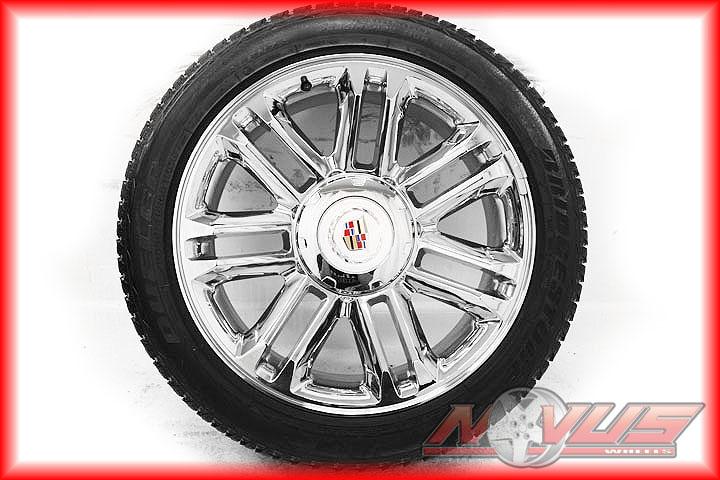 "22"" Cadillac Platinum Escalade Chrome Factory Wheels Bridgestone Tires 20"