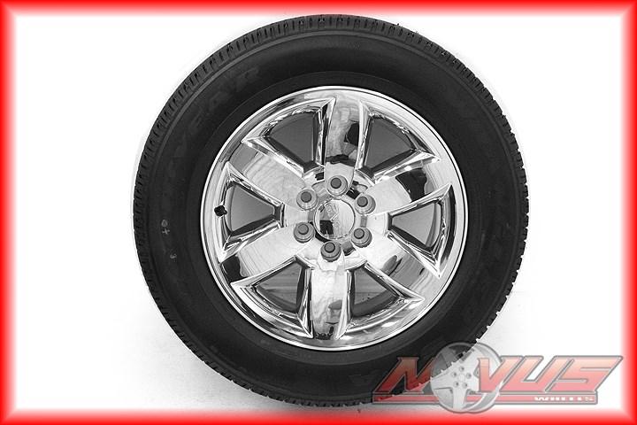 "New 20"" GMC Yukon Sierra Chevy Tahoe Silverado Wheels Goodyear Tires 22"