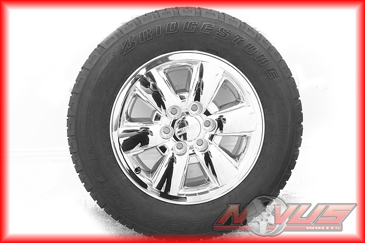18 GMC SIERRA CHEVY TAHOE SILVERADO Z71 CHROME OEM WHEELS BRIDGESTONE