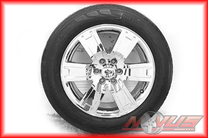 "20"" Ford F150 Expedition Chrome Clad Wheels Pirelli Str Tires Factory"