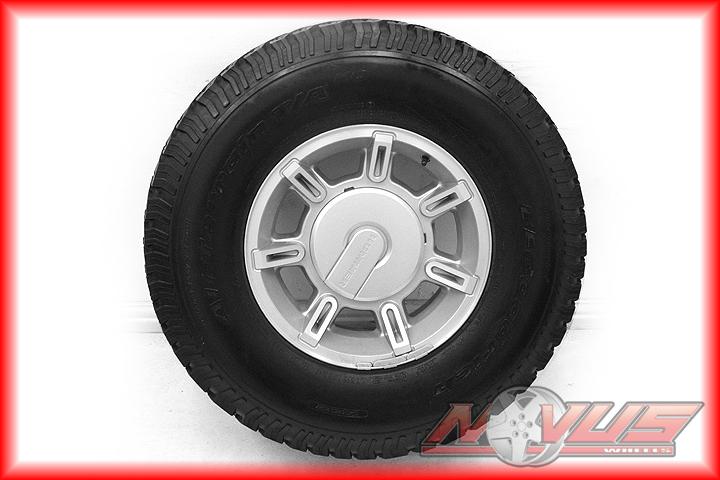 """17"""" Hummer H2 Silver Wheels Tires Silverado Dodge 2500 20"""