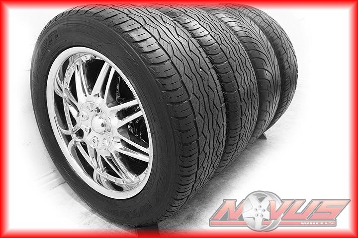 "20"" American Racing Chevy Tahoe Yukon Cadillac Chrome Wheels Tires 22 24 6x139 7"
