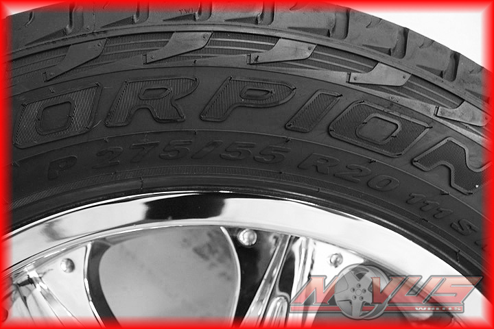 "20"" Chevy Silverado Tahoe GMC Yukon Dodge Durango Wheels Tires 22 24 18"