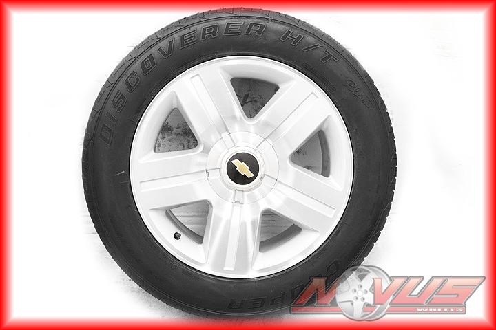 SILVERADO LTZ TAHOE YUKON MACHINED WHEELS COOPER TIRES CAPS 22 17 OEM