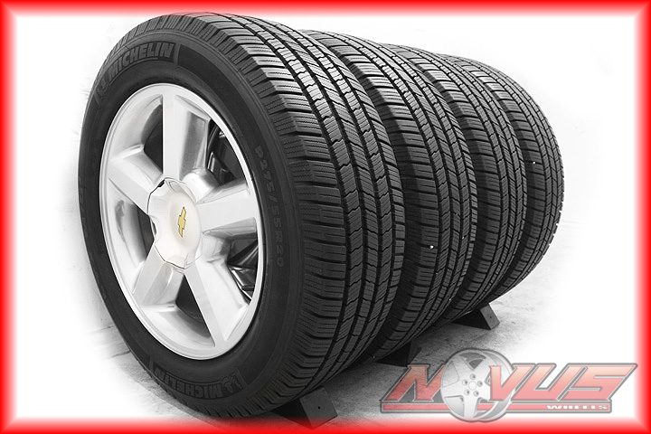 Tahoe LTZ Silverado Polished Avalanche Wheels Michelin Tires 22