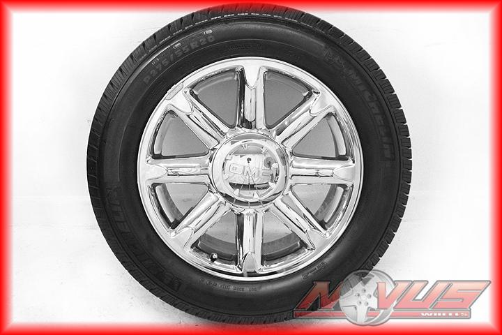 Denali Sierra Chevy Tahoe Silverado Wheels Michelin Tires 18 22