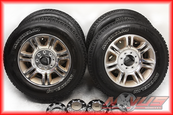 """2012 20"""" Ford F250 F350 Suderduty King Ranch FX4 Wheels Michelin Tires 17 18"""