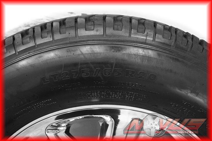 F250 SUDERDUTY KING RANCH FX4 CHROME OEM WHEELS MICHELIN TIRES 2012 18