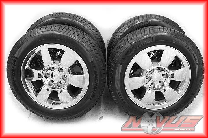 Sierra Denali Chevy Tahoe Silverado Chrome Wheels Tires 18 22