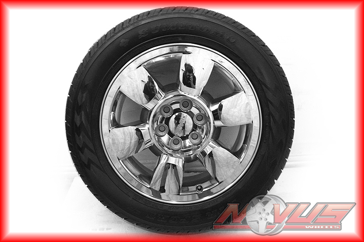 "20"" GMC Yukon Sierra Denali Chevy Tahoe Silverado Wheels Chrome Clad Tires"