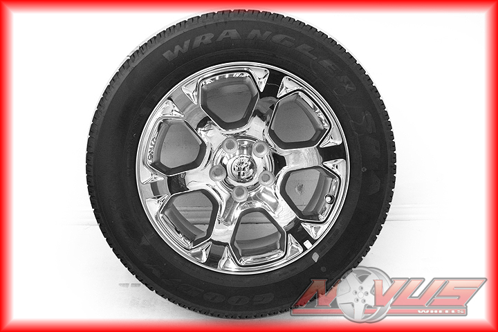 "2013 20"" Dodge RAM Durango Chrome Factory Wheels Goodyear Tires 22 18"