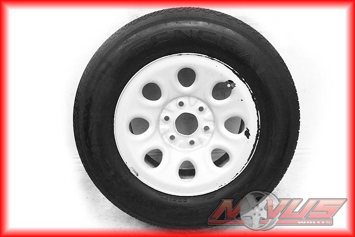 17 GMC Sierra Chevy Silverado Tahoe Wheels Tires Steel Silver Painted
