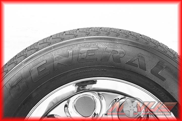 CHEVY SILVERADO TAHOE GMC SIERRA CHROME STEEL OEM WHEELS & TIRES 18 16