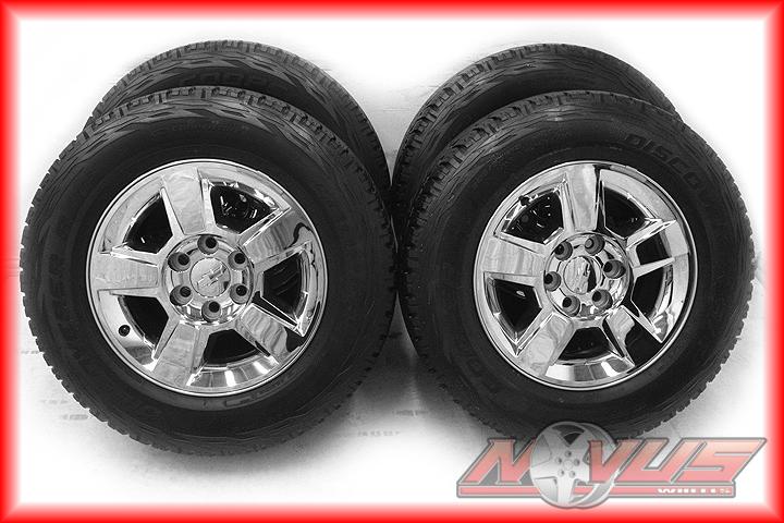 "18"" Chevy Tahoe Silverado GMC Sierra Yukon Z71 Wheels Firestone Tires 20 17"