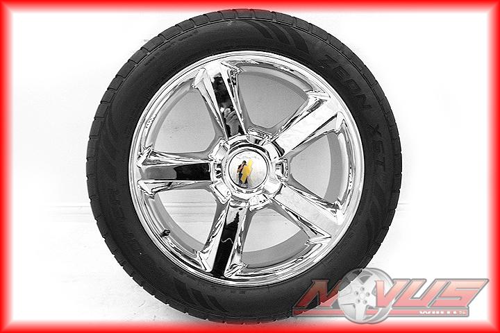 LTZ Silverado GMC Yukon Sierra Denali Chrome Wheels Tires 20