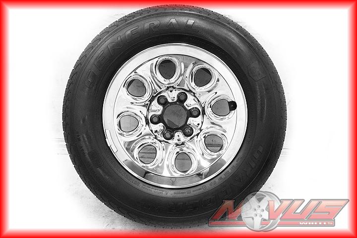 17 Chevy Silverado Tahoe GMC Sierra Yukon Chrome Wheels General Tires