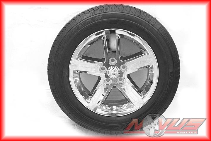 "20"" Dodge RAM 1500 Durango Factory Chrome Wheels Goodyear Tires 22 18"