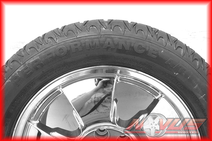 Silverado Tahoe LTZ GMC Yukon Sierra Chrome Wheels Tires 22 18
