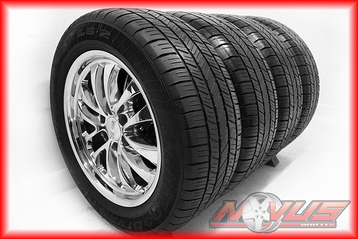 20 Chevy Silverado Tahoe Chrome Wheels Goodyear Eagle LS2 Tires GMC