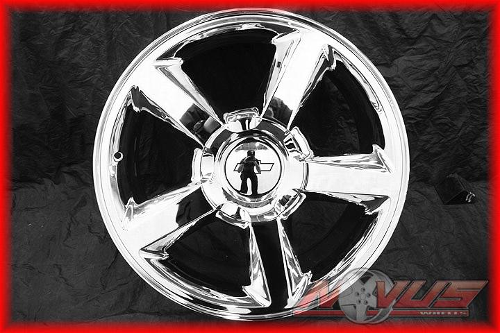 Tahoe LTZ Silverado GMC Yukon Sierra Denali Chrome Wheels 22 18